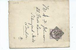 1d Lilac Sg172 Bristol Good Strike Squared Circle London Backstamp - 1840-1901 (Victoria)