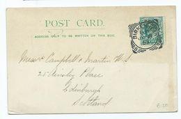 Postcard Posted 1903 Very Nice Birkenhead No 8 Squared Circle - Storia Postale