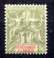 RC 17684 SÉNÉGAMBIE ET NIGER COTE 78€ N° 13 TYPE GROUPE NEUF * MH  ( VOIR DESCRIPTION ) - Sénégambie Et Niger (1903-1906)