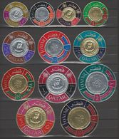 QATAR 1966 COINS Set Of 12 CANCELED More Difficult Than Mnh. - Qatar