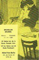 BRUXELLES 1981 - 12ème SALON INTERNATIONAL DE LA CARTE POSTALE ANCIENNE - HOTEL VAN BELLE - Org. Georges PHILIPS - Beursen Voor Verzamellars