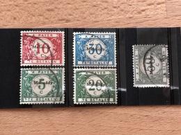 OC 79-83 Oblitérés TB Cote 55€ Malmédy Taxe - [OC55/105] Eupen/Malmédy