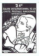 BRUXELLES 1985 - 21ème SALON INTERNATIONAL DE LA CARTE POSTALE ANCIENNE - HOTEL VAN BELLE - Org. Georges PHILIPS - Beursen Voor Verzamellars