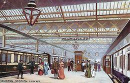 "Unknown Tuck Artist - ""London Railway Stations"" : Euston Station - L. & N. W. R. - 9279. - Illustrateurs & Photographes"