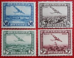 FOKKER Luchtpost Poste Aérienne 1930 OBP PA/LP 1-4 (Mi 280-283) POSTFRIS /MNH ** BELGIE BELGIUM - Airmail