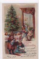 Fröhliche Weihnachten - Im Gegenlicht Erscheint Ein Engel - 1899         (200604) - Contraluz