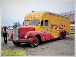 Ancien Camion Bernard  -  Publicitaire Pour La Cirque Pinder  -  15x10cms PHOTO - Trucks, Vans &  Lorries