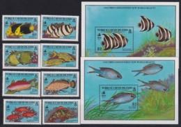 F-EX17948 TURK & CAICOS MNH DISCOVERY OF AMERICA COLUMBUS COLON FISH FAUNA - Turks And Caicos