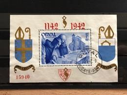 BL18 Oblitéré Premiers Jours TB Orval 1942 - Blocs 1924-1960