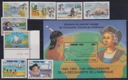 F-EX17973 BURKINA FASO CAMEROON DJIBOUTI MNH DISCOVERY OF AMERICA COLUMBUS COLON SHIP - Burkina Faso (1984-...)