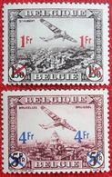FOKKER Luchtpost Poste Aérienne 1935 OBP PA/LP 6-7 (Mi 399-400) POSTFRIS /MNH ** BELGIE BELGIUM - Airmail