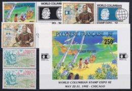 F-EX17975 POLYNESIE WALLIS & FUTUNA  MNH DISCOVERY OF AMERICA COLUMBUS COLON SHIP - French Polynesia