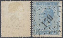 "émission 1865 - N°18 Obl Pt 179 ""Herve"" - 1865-1866 Profil Gauche"