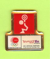Pin's JO Jeux Olympiques Japon Haltérophilie (Yahoo!) - 7CC27 - Jeux Olympiques