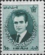 1966 Mohammed Riza Pahlavi - 5d - Green MH - Iran