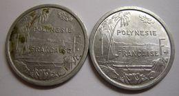 *** POLYNESIE FRANCAISE 2 X 1 FRANC 1965 Et 1977 IEOM *** - Polynésie Française