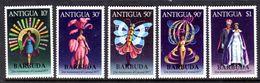 BARBUDA - 1977 CARNIVAL ANNIVERSARY SET (5V) FINE MNH ** SG 339-343 - Barbuda (...-1981)