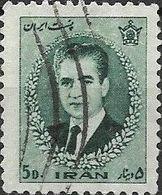 1966 Mohammed Riza Pahlavi - 5d - Green FU - Iran