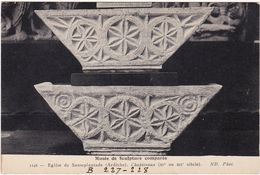 Ardèche : SAUSEPLANTADE : église - Chapiteaux - ( B 227-228 ) - Musée De Sculpture Comparée - - Autres Communes