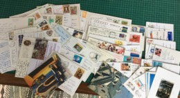 Timbres Sur 140 Cartes Postales Du Monde Entier ( Entre 1960 Et 2005 Environ) - Timbres