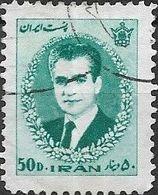 1966 Mohammed Riza Pahlavi - 50d - Turquoise FU - Iran