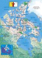 Nunavut Map Canada New Postcard Landkarte AK - Nunavut