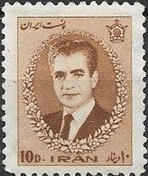 1966 Mohammed Riza Pahlavi - 10d - Brown MH - Iran