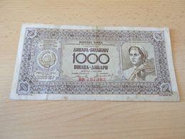 Banknote Jugolslavien 1000 Dinara 1946 - Banknotes