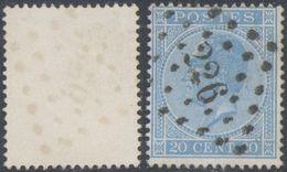 """émission 1865 - N°18 Obl Pt 226 """"Louvain"""" - 1865-1866 Profile Left"""