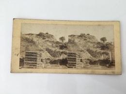 1880 Photo Privée Carte Stéréoscopique Stéréo Région BORDEAUX : LORMONT Vue Chantier ? Stockage ? - Francia