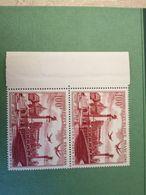 France 1949 Yvertn° PA 28 *** MNH Cote 9 Euro. Double. - Poste Aérienne