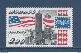 Monaco - YT N° 1537  - Neuf Sans Charnière - 1986 - Gebruikt