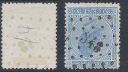 """émission 1865 - N°18 Obl Pt 348 """"Tamines"""" - 1865-1866 Profil Gauche"""