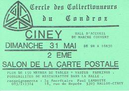 CINEY 1978 - 2ème SALON DE LA CARTE POSTALE - CERCLE DES COLLECTIONNEURS DU CONDROZ - Beursen Voor Verzamellars
