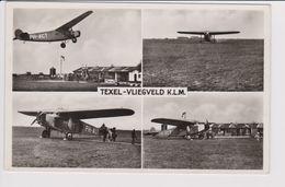 Vintage Rppc KLM K.L.M Royal Dutch Airlines Fokker F-7 @ TEXEL Airport - 1919-1938: Between Wars
