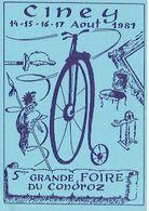 CINEY 1981- 5ème  GRANDE FOIRE DU CONDROZ - Beursen Voor Verzamellars