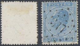 """émission 1865 - N°18 Obl Pt 377 """"Vieux-Dieux"""" - 1865-1866 Profil Gauche"""