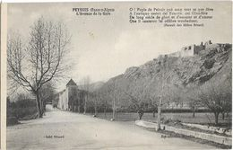 CPA - PEYRUIS - L'avenue De La Gare - Andere Gemeenten
