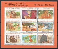 F416 GRENADA GRENADINES CARTOONS WALT DISNEY THE FOX & THE HOUND 1KB MNH - Disney