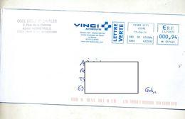 Lettre Flamme Ema  Feurs Entretien Fleur Autoroute Vinci - Marcophilie (Lettres)