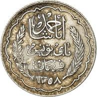 Monnaie, Tunisie, Ahmad Pasha Bey, 5 Francs, 1939, Paris, TTB, Argent, KM:264 - Tunisia