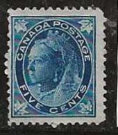 Canada 1897-1898 N° Y&T :  58 Sans Gomme - 1851-1902 Reign Of Victoria
