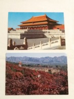 """(Z2) 2 CP """" Post Card China : """"Hall Of Supreme Harmony , Palace Museum. The Ming Tombs"""" - China"""