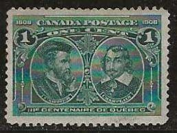 Canada 1908 N° Y&T :  86 Sans Gomme - 1903-1908 Reign Of Edward VII