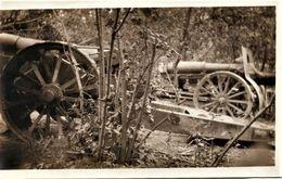 PHOTO FRANÇAISE - CANONS DANS LES BOIS D'ELINCOURT PRES DE THIESCOURT - NOYON - OISE - GUERRE 1914 1918 - 1914-18