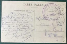 France - WW1 - CPA 1915 - Grand Cachet Hopital Auxiliaire AMIENS - Sté Fr SECOURS AUX BLESSES - (B234) - WW I