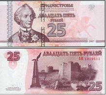 Transnistria 25 Rubles 2007 UNC - Billetes
