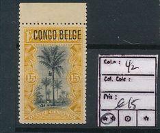 BELGIAN CONGO 1909 ISSUE TYPO. COB 42 MNH - 1894-1923 Mols: Mint/hinged