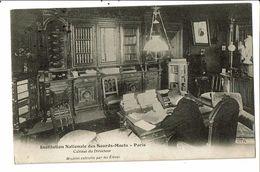 CPA-Carte Postale- France- Paris- Institution Des Sourds Cabinet Du Directeur -1906 VMO17379 - Musei