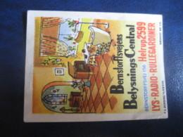 HELLERUP Helrup Radio Belysnings Central Poster Stamp Vignette DENMARK Label - Sonstige
